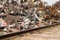 Scrap metal yard waste symbolic Royalty Free Stock Photo