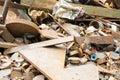 Scrap metals of industrial waste Stock Image