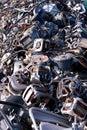 Scrap wire and motors Stock Photo