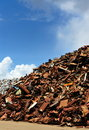 Scrap yard in Amsterdam Royalty Free Stock Photo