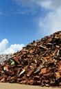 Scrap yard in Amsterdam Royalty Free Stock Photo