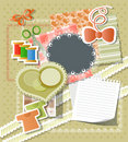 Scrapbook background Royalty Free Stock Photography