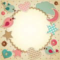 Scrapbook background Stock Images