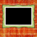 Scrapbook background with frame decorative on for your or other project Stock Photography