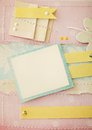 Scrapbook background frame paper making photo album Stock Image