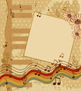 Scrapbook background musical in style retro template Royalty Free Stock Photos
