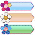 Scrapbook banners Royalty Free Stock Photo