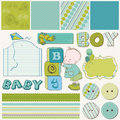 Scrapbook Boy Set Royalty Free Stock Photo