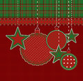 Scrapbook christmas card Royalty Free Stock Images