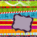 Scrapbook christmas patterns, illustration Stock Photos