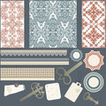 Scrapbook design elements Royalty Free Stock Image