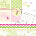 Scrapbook design elements cute with copy space Royalty Free Stock Photo