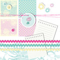 Scrapbook design elements cute for crafting Stock Photography