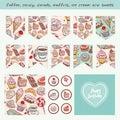 Scrapbook Design Elements Hand drawn confectionery set