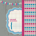 Scrapbook Design Elements - Page for your birthday Stock Images