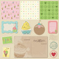 Scrapbook design elements - Sweet Desserts Stock Images