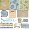 Scrapbook design elements - Vintage Stock Photo
