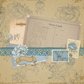 Scrapbook design elements - Vintage Bird Stock Photos