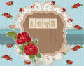 Scrapbook Design Elements - Vintage Flowers Royalty Free Stock Photo