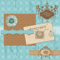 Scrapbook design elements - Vintage Wedding Set Royalty Free Stock Images