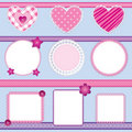 Scrapbook elements pink - set 2 Royalty Free Stock Photo