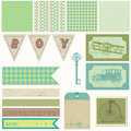 Scrapbook elements - Vintage Boy Set Stock Photos
