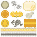 Scrapbook flower set Royalty Free Stock Photo