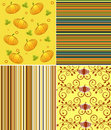 Scrapbook halloween patterns Royalty Free Stock Photos