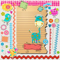 Scrapbook kit with cute elements Stock Image