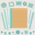 Scrapbook kit various elements Royalty Free Stock Images
