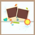 Scrapbook Photo Frame Royalty Free Stock Photo