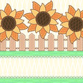 Scrapbook styled card with sunflowers Royalty Free Stock Images