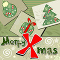 Scrapbook styled Christmas card Stock Photos
