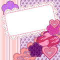 Scrapbook valentine card Royalty Free Stock Images