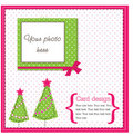 Scrapbook xmas card Stock Photo