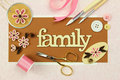 Scrapbooking items Royalty Free Stock Photo