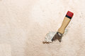 Scraper remove old wallpaper with Royalty Free Stock Photo