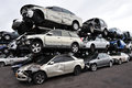Scrappage program ashdod isr jan stack of ld cars being scrapped during on jan it s an government budget to remove Stock Images