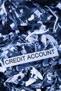 Scraps credit account Royalty Free Stock Photo