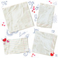 Scraps of paper  with hearts Royalty Free Stock Image