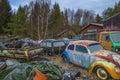 Scrapyard for cars (volkswagen) Stock Photo