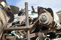 Scrapyard sсrap in the ready for recycling Royalty Free Stock Photography