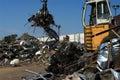 Scrapyard truck grabber Stock Photography