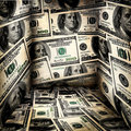 Scratch grunge dollars room background Royalty Free Stock Photo