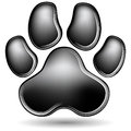 Scratchboard Paw Print Stock Photo