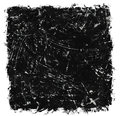 Scratched black ink brush strokes background Stock Images