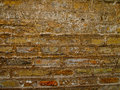 Scratched bricks wall rock moldy close up in various colors Royalty Free Stock Photos
