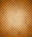 Scratched cardboard with polka dot pattern old Royalty Free Stock Photography