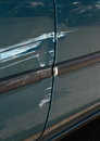 Scratched door paint on a car Royalty Free Stock Photo
