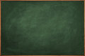 Scratched green chalkboard framed slate blackboard texture with scratches and faint remains of previous chalk writing Royalty Free Stock Photography